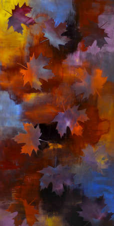 "Leaves 24"" x 48"" (SOLD)"