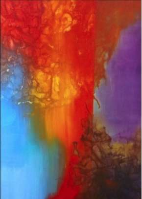 "Color Burst 36"" x 48"""