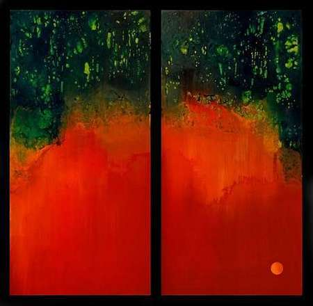 Through the Looking Grass (diptych)
