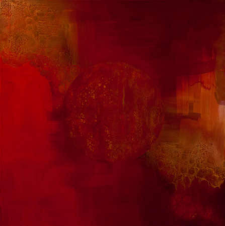 "Red Planet (Back Painted Glass) 60"" x 60"""