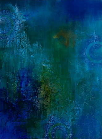 "Blue Bayou (Resin Coated Painted Glass) 36"" x 48"""
