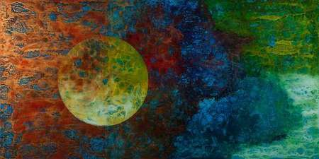 "Moon Over Miami 48"" x 96"" (Back Painted Glass)