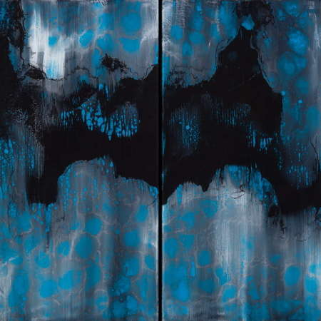 "Blue Storm 36"" x 36"" (Diptych) SOLD"