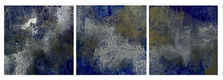 "Untitled  (Resin Coated Painted Glass) 24"" x 72"" (Triptych)"