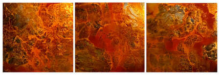 "Untitled  (Back Painted Glass) 30"" x 90"" (Triptych)  SOLD"